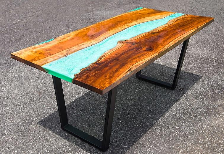 epoxidharz tisch bauen