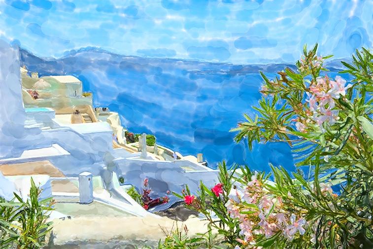 landschaft aquarell