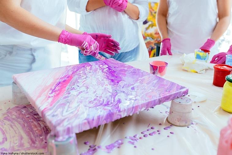 peinture fluide sur toile