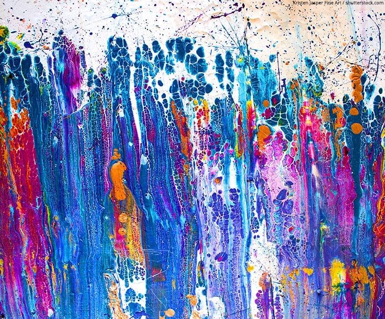 peinture pouring
