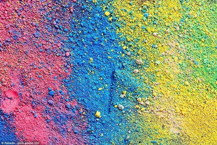 colorare la resina