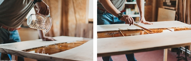 epoxy tafel maken