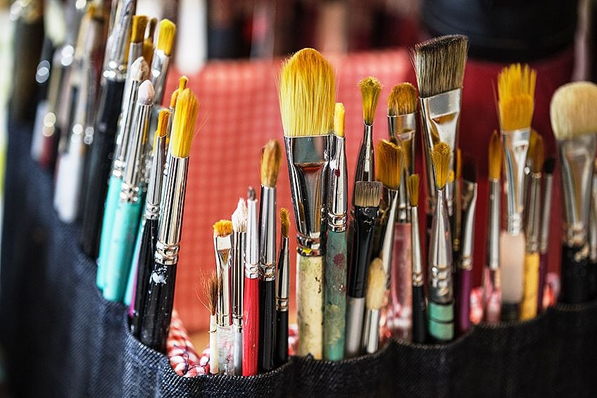 Brushes for Painting on Glass with Acrylics