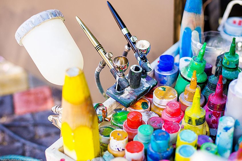 Thinning Acrylic Craft Paint for Airbrushing