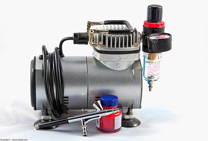 airbrush kompressor test