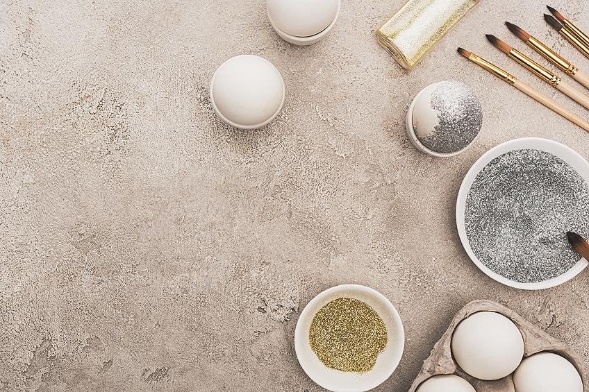 Glitter Paint for Glass Eggs