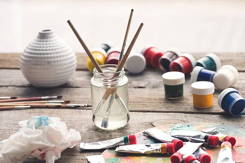 Cleaning Oil Paint Brushes