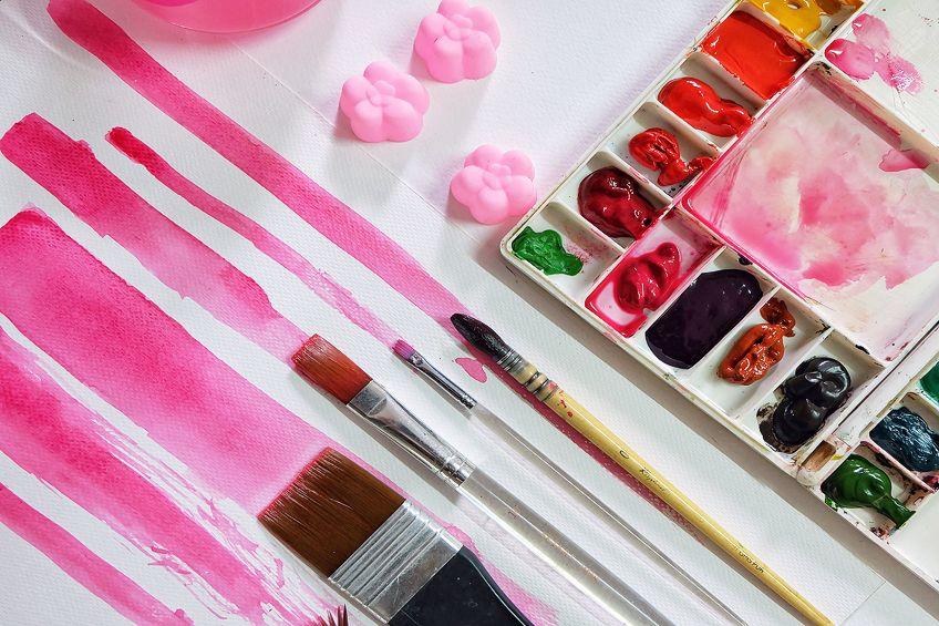 Blush Pink Watercolor Painting