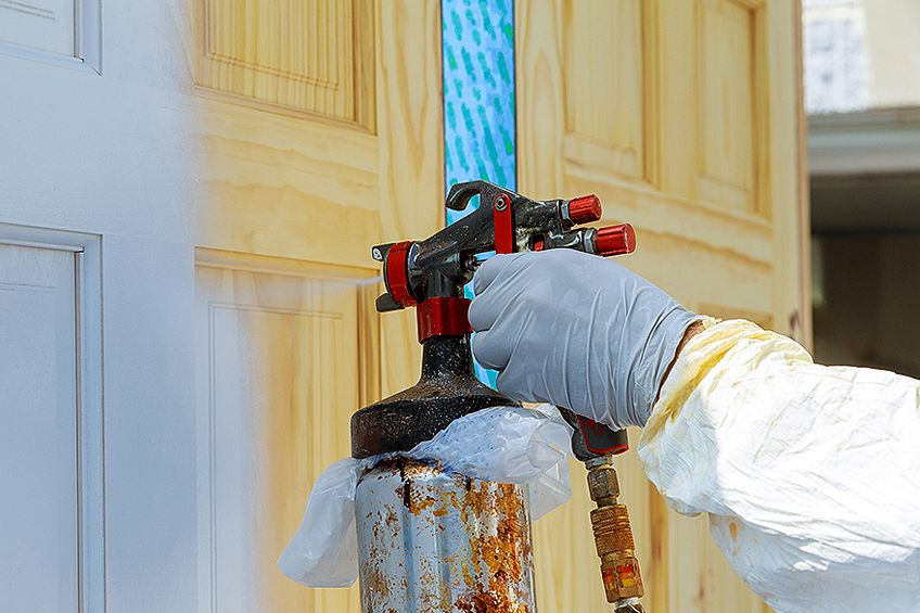 Learning How to Paint Kitchen Cabinets with Spray Gun