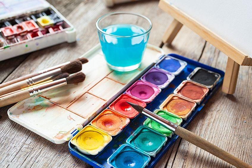 Preparing Canvas for Watercolor