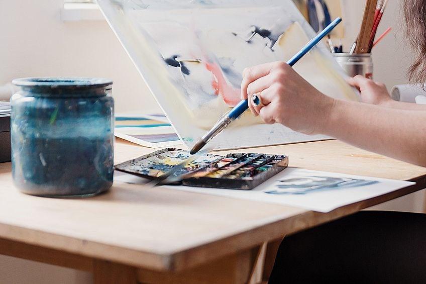 Watercolor on Canvas Board